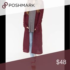 cc0d7d1a38a0 Agnes dora Duster NWT 95% polyester 5% Spandex Agnes   Dora Sweaters  Cardigans