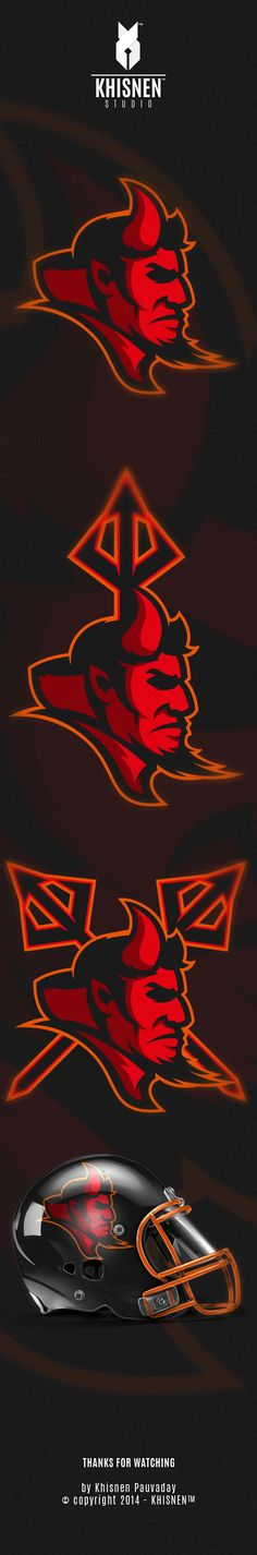 Red Devils by Khisnen Pauvaday, via Behance