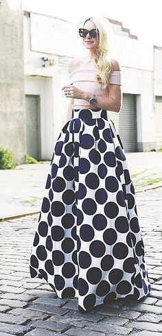 A Fancy Crop Top That Looks Elegant With a Long Maxi Skirt