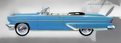 Plan59 :: Classic Car Art :: 1955 Lincoln Capri