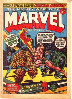 Mighty World of Marvel #13, Jim Starlin cover. Jim Starlin cover. #MightyWorldOfMarvel #JimStarlin