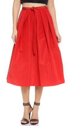 Gorgeous Tibi skirt for holidays. Love that A-line is back in for us curvy girls.