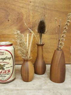 Set of 3 Weed Pots Stick Pot Twig Pot Flower Vase