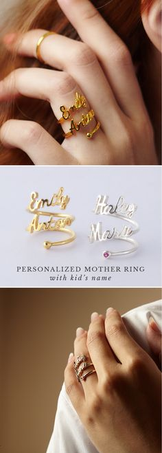 Personalized Name Ring - Double Name • gold name rings • my name ring • rings with name • rose gold name ring • Personalized name rings • Custom name rings • Actual rings with name • customized couple rings • Bridesmaid jewelry • Jewelry for sister • xmas presents • cool gifts for kids • best christmas gifts for friends • best friend present ideas • unique birthday gifts for girls • christmas presents for kids