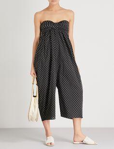 MARYSIA | Polka-dot cotton jumpsuit