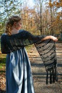Sense & Sensibility Patterns - Fleur de Lis Shawl Pattern to crochet
