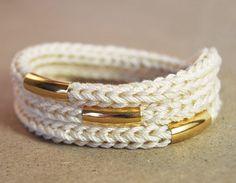 knit wrap bracelet / necklace