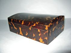 antique tortoiseshell box with domed lid 1800s by ObjectRetro, $869.00