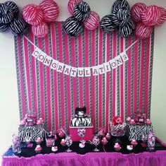 PinkZebra Theme Birthday Party Ideas Duct tape Green beans and Beans