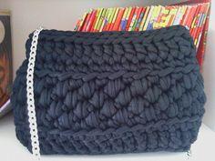 Crochet by milunar: bolso trapillo noche