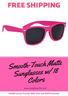 e2c11f8c0d23 Customized Smooth-Touch Matte Sunglasses w  18 Colors