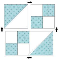 Jane's Ladder Quilt « Moda Bake Shop Quilt Square Patterns, Beginner Quilt Patterns, Quilting For Beginners, Quilt Patterns Free, Quilt Tutorials, Pattern Blocks, Square Quilt, Beginner Quilting, Scrappy Quilts
