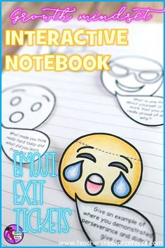 Interactive Notebook Emoji Exit Tickets – ideal for Growth Mindset! They are a great way for students to reflect on their Growth Mindset behavior and thinking in a fun, interactive and relatable way! They also provide you with great feedback to assess student progression in your lesson that you can then use to plan differentiated lessons to suit their needs. @resourceforce Growth Mindset Display, Teaching Character, Character Education, Learning Process, Classroom Community, Interactive Notebooks, Counseling Activities, Time Activities, Exit Tickets