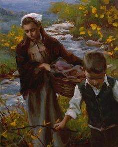 An evening by the stream by Mike Malm