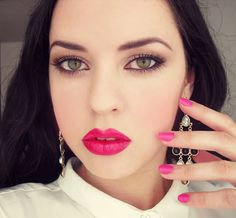 pink make up look