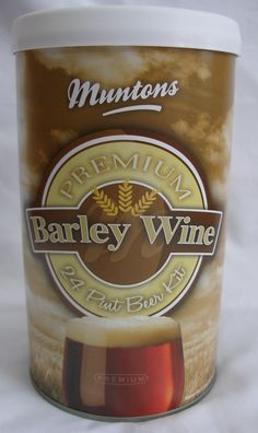 New in stock - Muntons Premium Barley Wine beer kit.  An extra strong beer kit for that special occasion. 1.5Kg of hopped malt extract makes 13.5 litres (24 pints) of full bodied and strongly flavoured barley wine with between 6% and 6.4% of alcohol by volume.   For best results try using 1Kg of Dark Spraymalt instead of sugar.  #Cheers