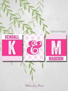 Sisters room decor Little Girls room decor!! Kams ready to have her room redone!! thinking ill have to make something like this!!