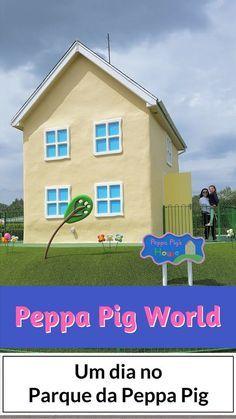 Viagem com nossa filha para o Parque da Peppa Pig World perto de Londres na Inglaterra, Reino Unido
