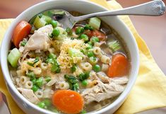 Homemade Chicken Noodle Soup by canyoustayfordinner: Because soup is sustenance. #Soup #Chicken_Noodle_Soup #canyoustayfordinner