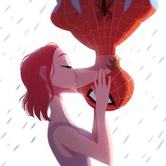 astierfan: Spider-kiss by Gabriel Soares