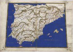 Mapa de España sacado de la Geografía de Ptolomeo