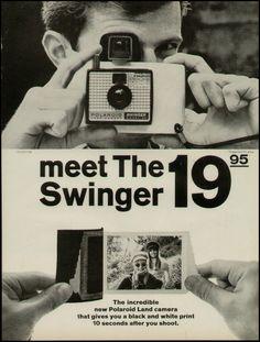 1966 Polaroid Swinger Land Camera Ad Meet the Swinger