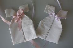 Søte dåpskjoler til dåp og babyshower, napkins for babyshower