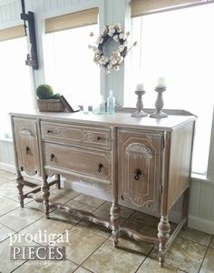 Antique Buffet Makeover with Farmhouse Style by Prodigal Pieces | prodigalpieces.com