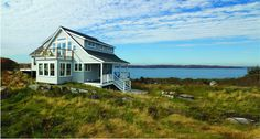Home located on the coast of Maine, features A-Series Double-Hung windows and Frenchwood Patio Doors.