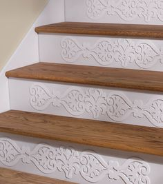 Discover thousands of images about Buttercream™ Elizabeth Collection Step Art Diy Home Decor, Room Decor, Staircase Makeover, Staircase Design, Home Projects, Home Remodeling, Home Improvement, Sweet Home, House Design