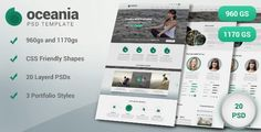 Oceania PSD Template by ElvenGraphics Oceania clean modern multipurpose PSD template suitable for your Business,Portfolio,Creative Agency websites.Oceania use 960 and 1