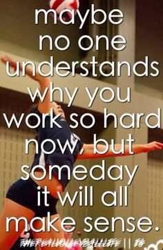 This is so true. Just yesterday one of my friends that don't play sports ask me why am I always busy playing volleyball. I said so I can be better tomorrow. Volleyball Motivation, Volleyball Memes, Gymnastics Quotes, Volleyball Workouts, Play Volleyball, Basketball Quotes, Volleyball Players, Volleyball Gifts, Coaching Volleyball