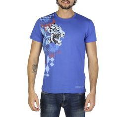 Versace Jeans Black Cotton T-shirts RRP Gender:Man - Type:T-shirt - Sleeves:short - Neckline:round - Material:cotton - Pattern:solid colour - Washing:wash at C - Model height, - Model wears a size:M - Details:appliques, visible logo. Versace Jeans T Shirt, Tiger Shirt, Tee Shirt Homme, Laura Biagiotti, Tee Shirts, Tees, Skinny, E Bay, Mannequin