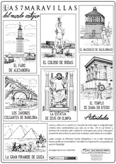 Pin by ~Ly~ on Greek and Mythology in 2020 World History, Art History, Learning Sight Words, Seven Wonders, Teaching History, History Teachers, Historical Art, History Facts, Learning Spanish