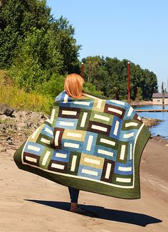 Beach House Flannel Quilt Kit from The Pine Needle Quilt Shop