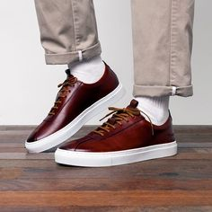 Handmade from premium leather, timeless styles from are available online and in-store now. Fall Shoes, Men's Shoes, Shoes Sneakers, Burberry Men, Gucci Men, Trendy Shoes, Casual Shoes, Mens Fashion Shoes, Men's Fashion