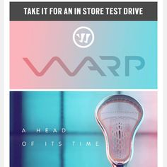 #LacrosseUnlimited Get To Your Local Store To Test Drive The #Warrior WARP #thefutureishere Triangle Logo, Lacrosse, Driving Test, Baseball, Store, Photography, Instagram, Tent, Fotografie