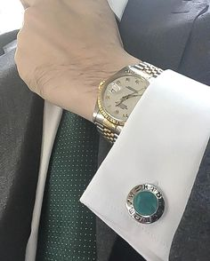 "Boost confidence and sexual energy with ""Elite & Luck"" Green Chrysoprase Sterling Silver Cufflinks, Rhodium plated, Zodiac Model *** Exclusive Cufflinks for Pisces *** Available now at www.eliteandluck.com"