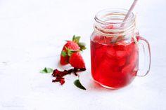 Receta- Té de Jamaica y... Tips Belleza, Mason Jars, Mugs, Tableware, Cinnamon Water, Coconut Oil, Flat Abs, Weight Loss Diets, Natural Remedies