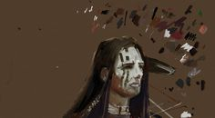 Native American Indian digital painting