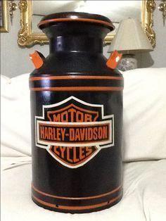 8 Flourishing Cool Ideas: Harley Davidson Jacket Shirts harley davidson fatboy Davidson Softail For Sale harley davidson chopper pictures. Harley Davidson Chopper, Harley Davidson Sportster, Harley Davison, Baggers, Cake Pink, Painted Milk Cans, Davidson Homes, Old Milk Cans, Milk Jugs