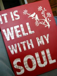 Use any phrase from a hymn or song with music paper underneath.  A Christmas carol would be great