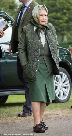 Queen Elizabeth II at the Royal Windsor Horse Show. May 13 2017.