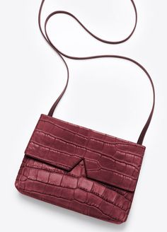 VINCE. Signature Collection Stamped Croc Baby Crossbody
