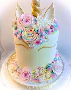 Buttercream Unicorn Cake by Dame Cupcakes. Butterfly & Insect Mould - Karen Davies Sugarcraft.