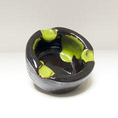 Asbak zwart / groen
