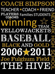 Personalized Coach Gift 8 x 10 print Any Sport Team. $14.00, via Etsy.