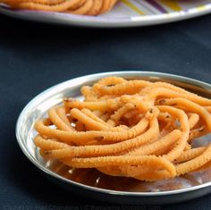 Potato Murukku - Crunchy Indian tea time savory snack with potatoes, chickpea flour, rice flour and cumin seeds