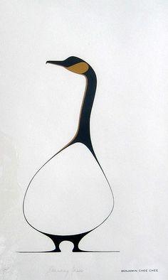 BENJAMIN CHEE CHEE...Benjamin Chee Chee Standing Goose