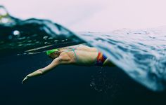 12 Pearls of Open Water Wisdom - press your chest down.